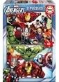 Educa Educa Çocuk Puzzle Karton 2X48 Avengers Renkli